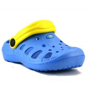 Chodak dziecięcy C3 niebieski + żółty